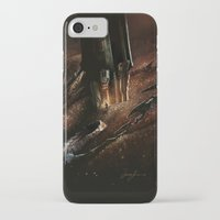 smaug iPhone & iPod Cases featuring The Desolation of Smaug by Artechniq