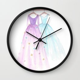 Two Dresses 2 Wall Clock