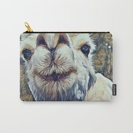 Baby White Alpaca Carry-All Pouch