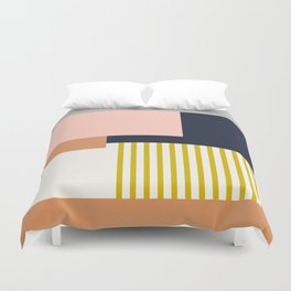 Sol Abstract Geometric Print in Multi Duvet Cover