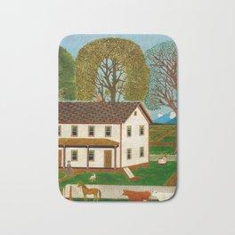 Farmhouse Decor - Vintage Painting Bath Mat