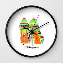 Aztec - Heels Wall Clock