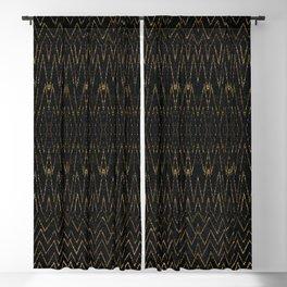 Gold Multi Chevron Pattern Design Blackout Curtain