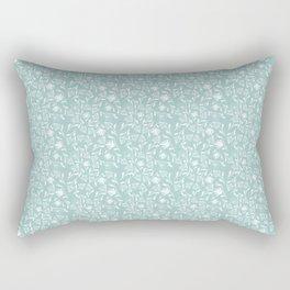 A Saunter on the Green Rectangular Pillow