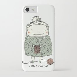 I love knitting iPhone Case