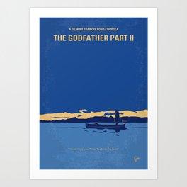 No686-2 My Godfather II minimal movie poster Art Print