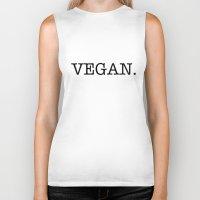vegan Biker Tanks featuring VEGAN. by Word