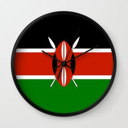 National flag of Kenya - Authentic version, to scale and color Wall Clock