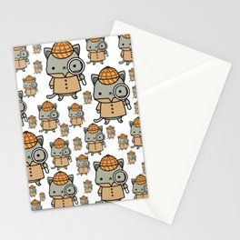 The Cozy Mystery Book Club Mascot | Purrlock Holmes Stationery Cards