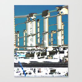 """Electric City"" Canvas Print"