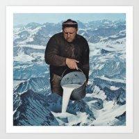 Milky Mountain Art Print