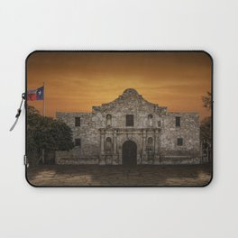 The Alamo Mission in San Antonio Texas with the Lonestar Flag Flying No.0256 A Fine Art Historical P Laptop Sleeve