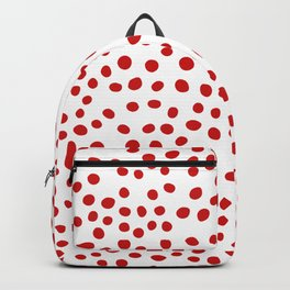 Red doodle dots Backpack