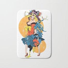 cocktail oiran girl Bath Mat