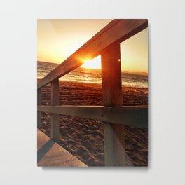 "Redondo Beach ""Life Guard Tower 2"" Metal Print"