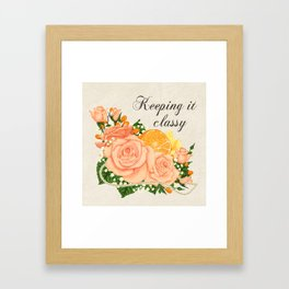 Flower bouquet | Keeping it classy Framed Art Print