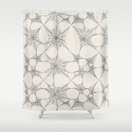 Spiderweb Pattern Shower Curtain