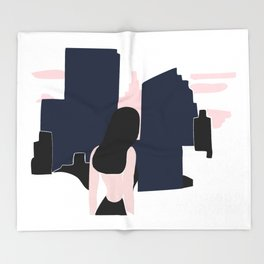 City girl Throw Blanket