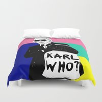 karl Duvet Covers featuring KARL WHO by TEN-iD