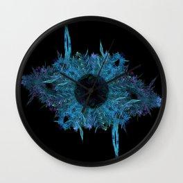 Blue eye - fractal Wall Clock