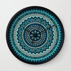 Hippie Mandala 16 Wall Clock