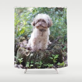 Woodland Pup Shower Curtain