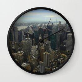 Bird's Eye Time Square Wall Clock