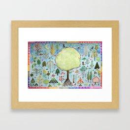 Forest Sampler Framed Art Print