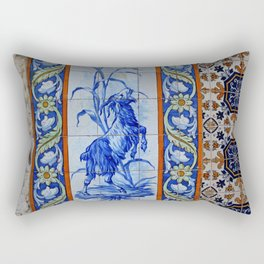 Goat Vintage Mosaic Tiles Rectangular Pillow