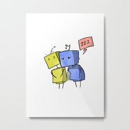 Cutebots: sleepybots Metal Print