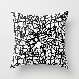 Graffiti Pattern   Street Art Urban Graphic Throw Pillow
