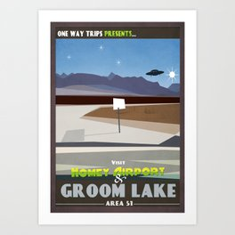 Visit Area 51 Art Print