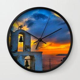 Santorini 9 Wall Clock