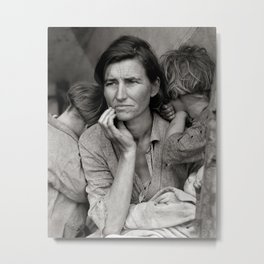 Migrant Mother, 1936. Vintage Photo Metal Print