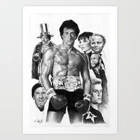 rocky Art Prints featuring Rocky by calibos