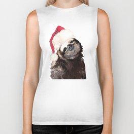 Christmas Sloth Biker Tank