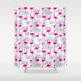Flamingos Surface Pattern Design Shower Curtain