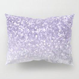 Unicorn Purple Glitter Marble Pillow Sham