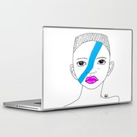 stripe Laptop & iPad Skins featuring Stripe by ARAJUA