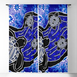 Baby Sea Turtles - Aboriginal Art Blackout Curtain