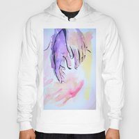 hands Hoodies featuring Hands by SirScm