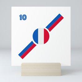 French Flag soccer team jersey Mini Art Print