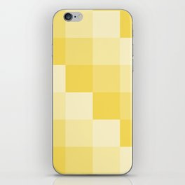 Four Shades of Yellow Square iPhone Skin