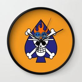 Fire fist ace Wall Clock