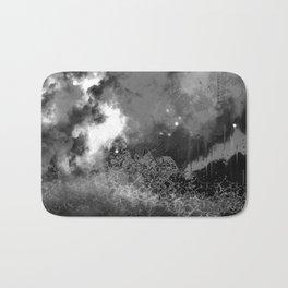 """The Crystal Forest"" (Black & White) Digital Painting // Fine Art Print Bath Mat"