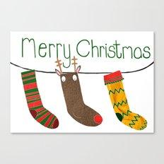 Merry Christmas socks Canvas Print