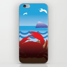 Crab Whale Watch iPhone Skin