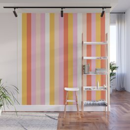 Warm Colors Stripes Wall Mural