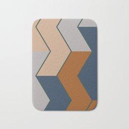 Modern Fall Winter Color Pattern Bath Mat