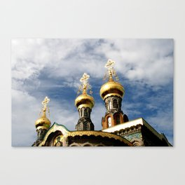 The Russian chapel on Mathildenhöhe Canvas Print